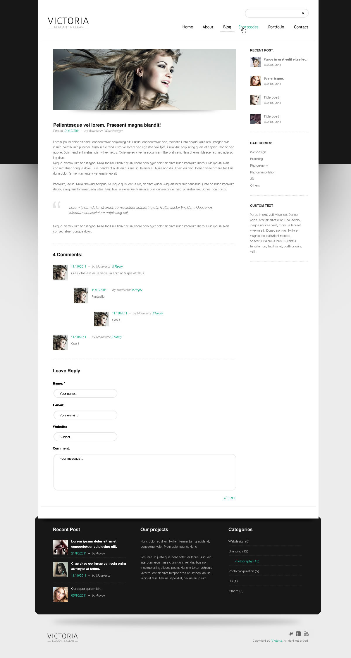 WordPress Template Victoria - Screenshot 4