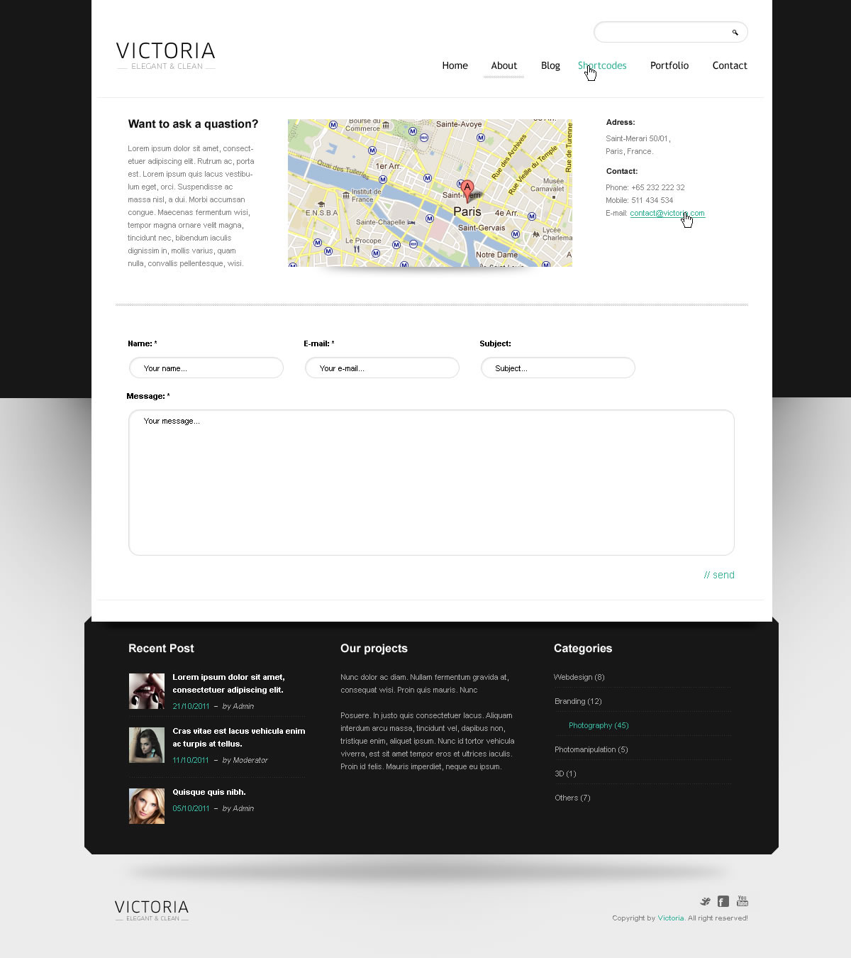WordPress Template Victoria - Screenshot 5