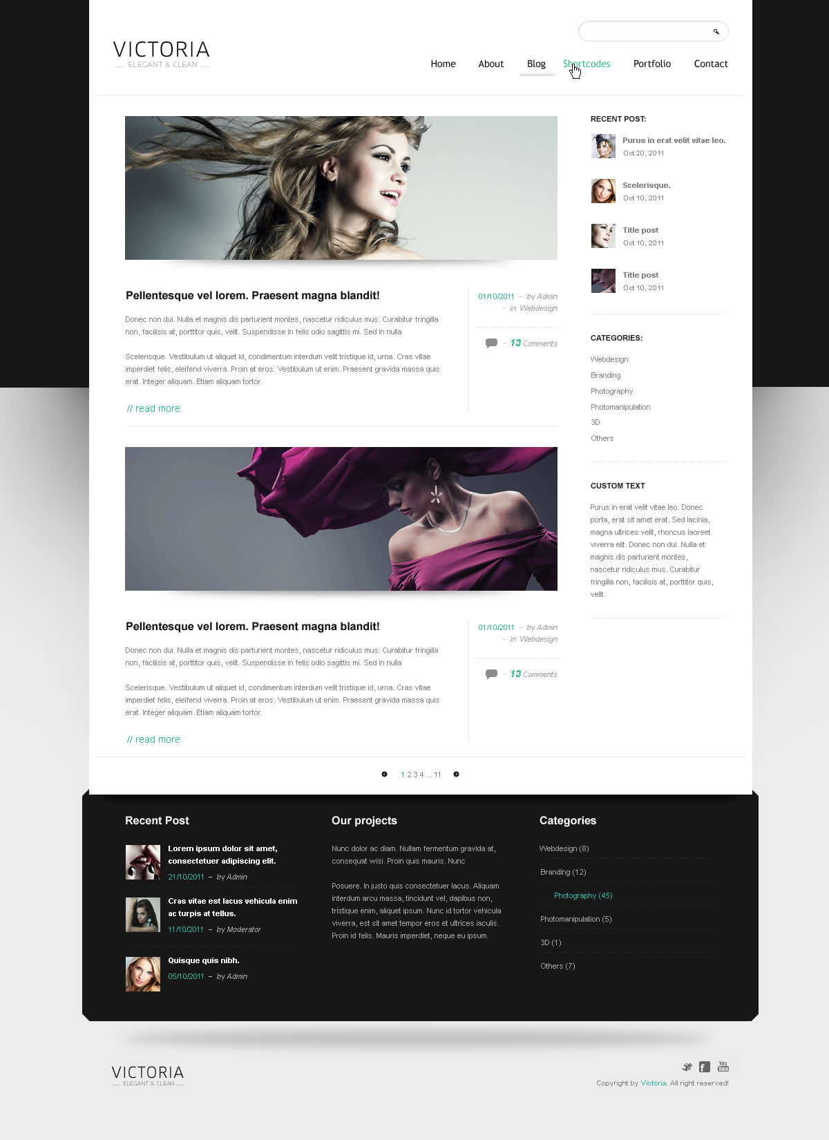 WordPress Template Victoria - Screenshot 6