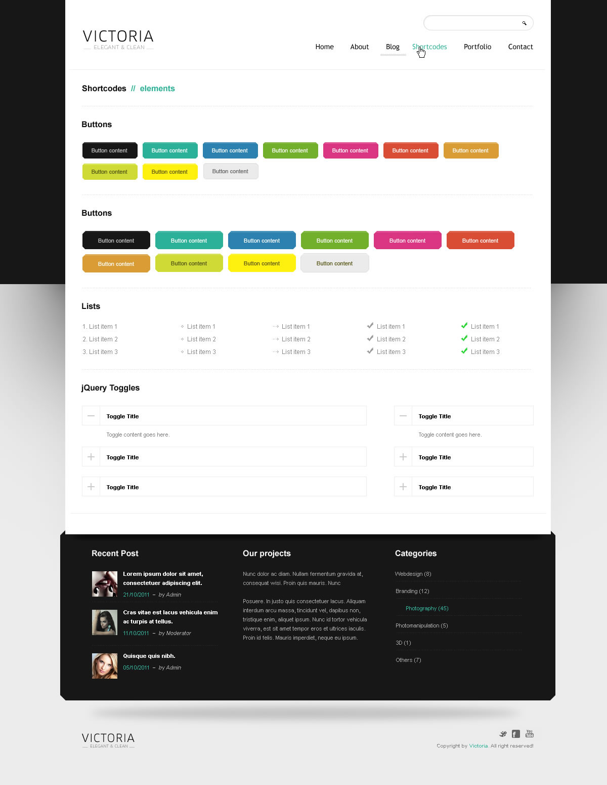 WordPress Template Victoria - Screenshot 10
