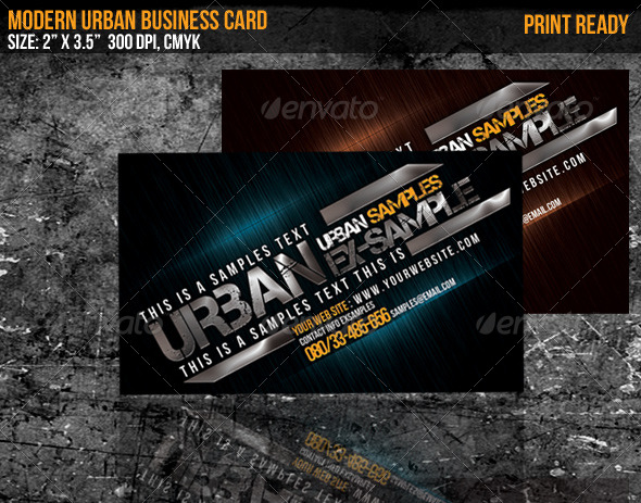 Modern Urban Business Card - Creative Business Cards
