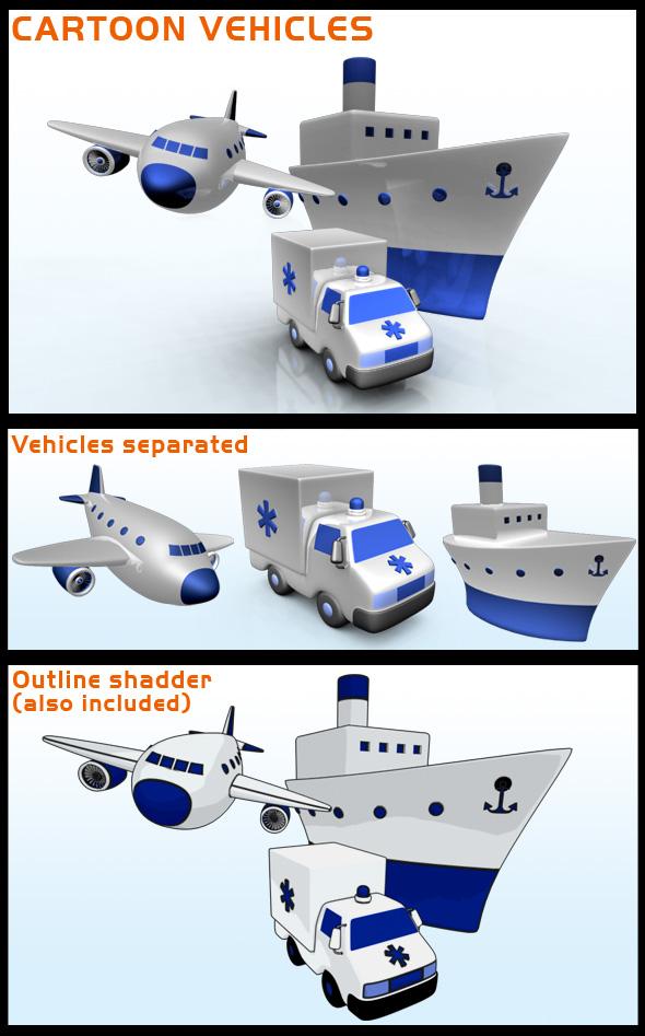 3DOcean Cartoon Vehicles 80022