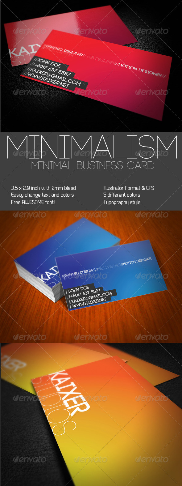 GraphicRiver Minimal Style Business Card 229169