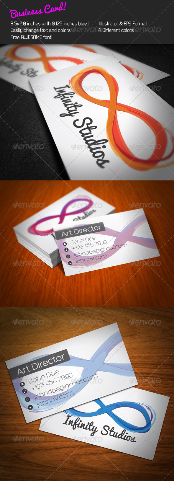 Infinity Business Card - Creative Business Cards