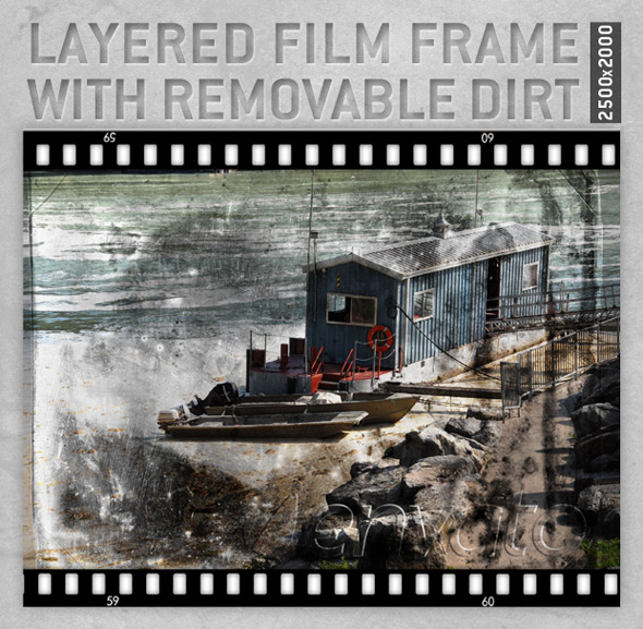 Layered Film Frame with removable dirt - Decorative Graphics