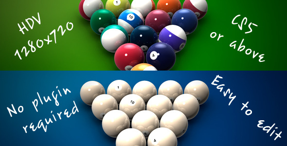 After Effects Project - VideoHive Introduction to Billiard 2116433
