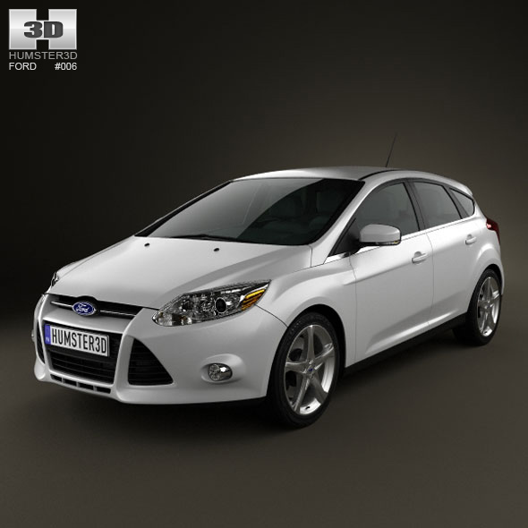 Ford Focus Hatchback 2011 - 3DOcean Item for Sale