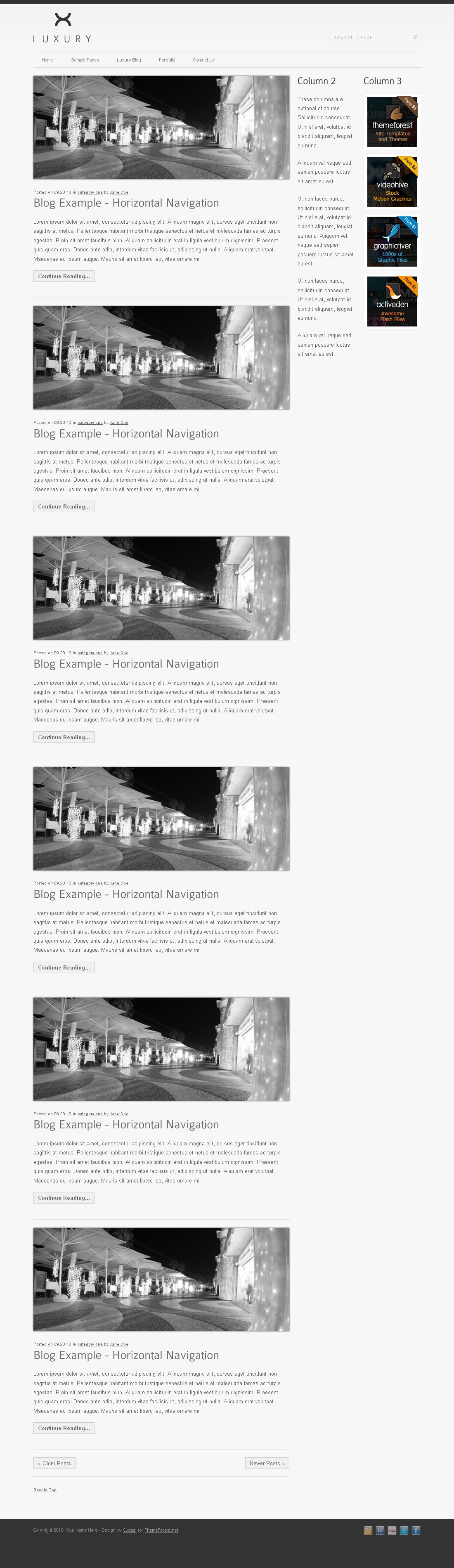 Luxury HTML Template by Cudazi