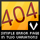 Simple error page in two variations. - GraphicRiver Item for Sale