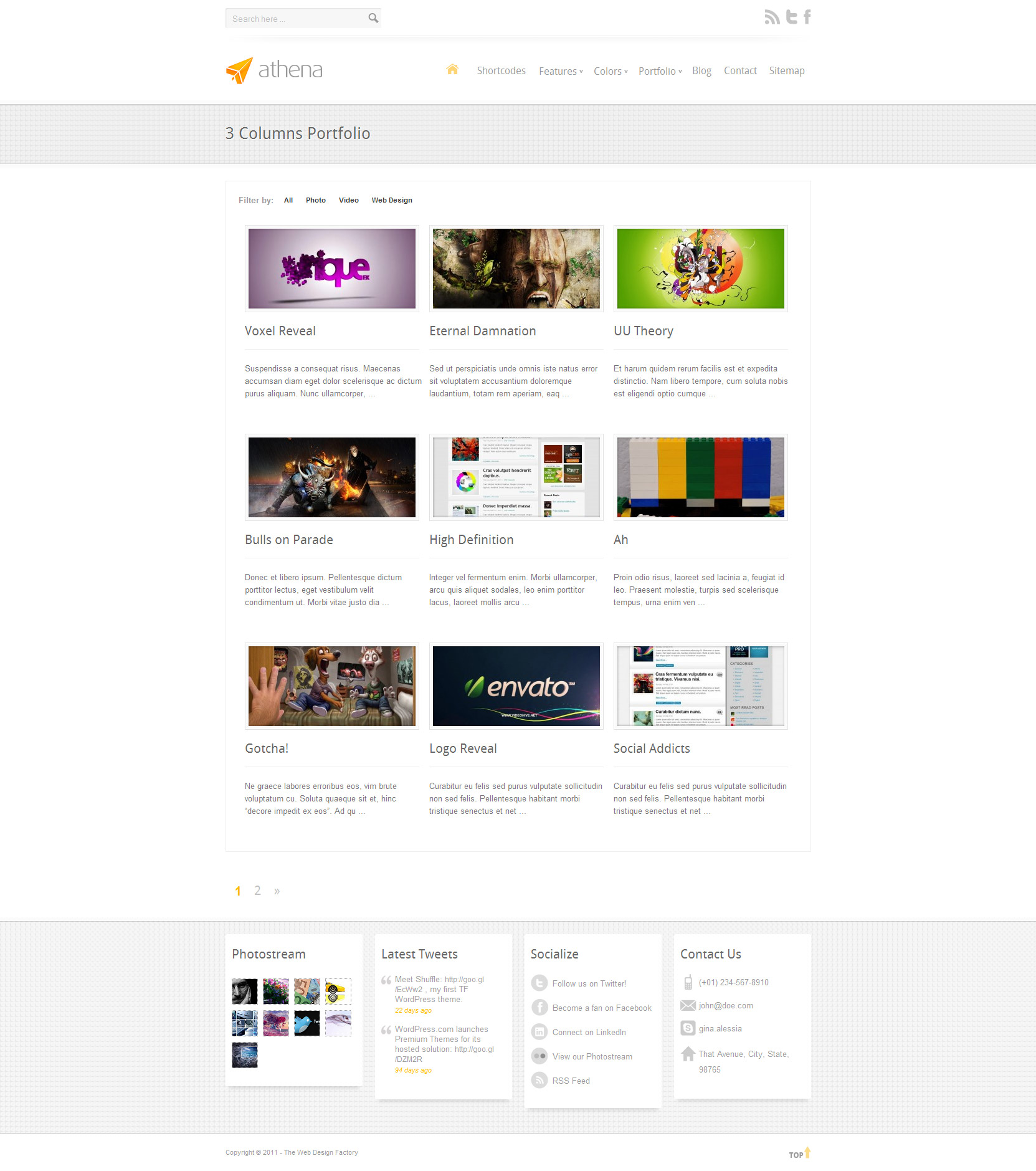 Athena: Premium Business/Portfolio WordPress Theme