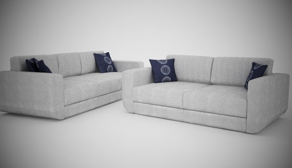 2 And 3 seats BoConcept SOFA - 3DOcean Item for Sale