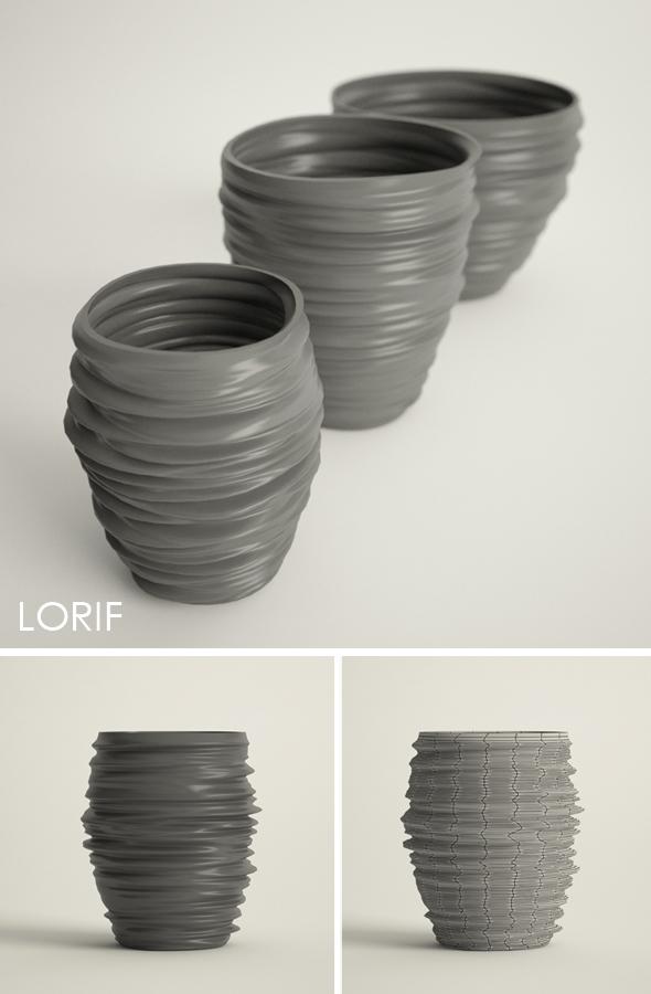 3DOcean Dedon Babylon vases set 240363