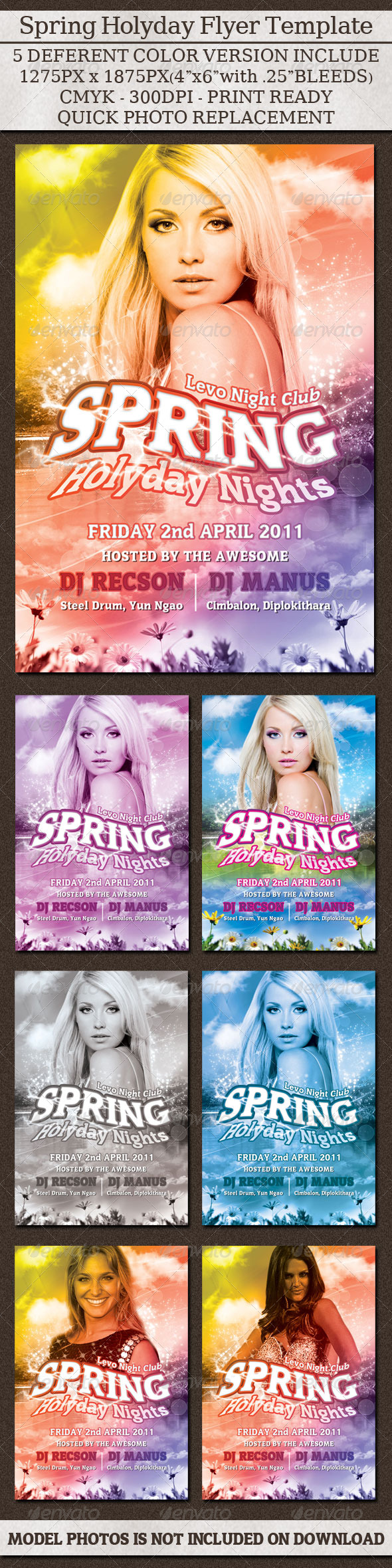 GraphicRiver Spring Holyday Night Flyer 239911