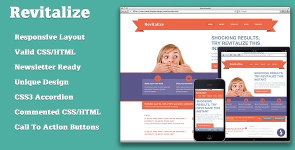 Responsive Revitalize Landing Page