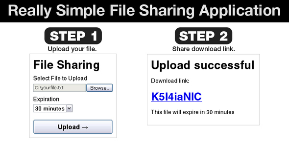 Really Simple File Sharing Web Application