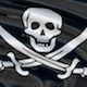 Seamless looping pirate flag with skull and swords - VideoHive Item for Sale