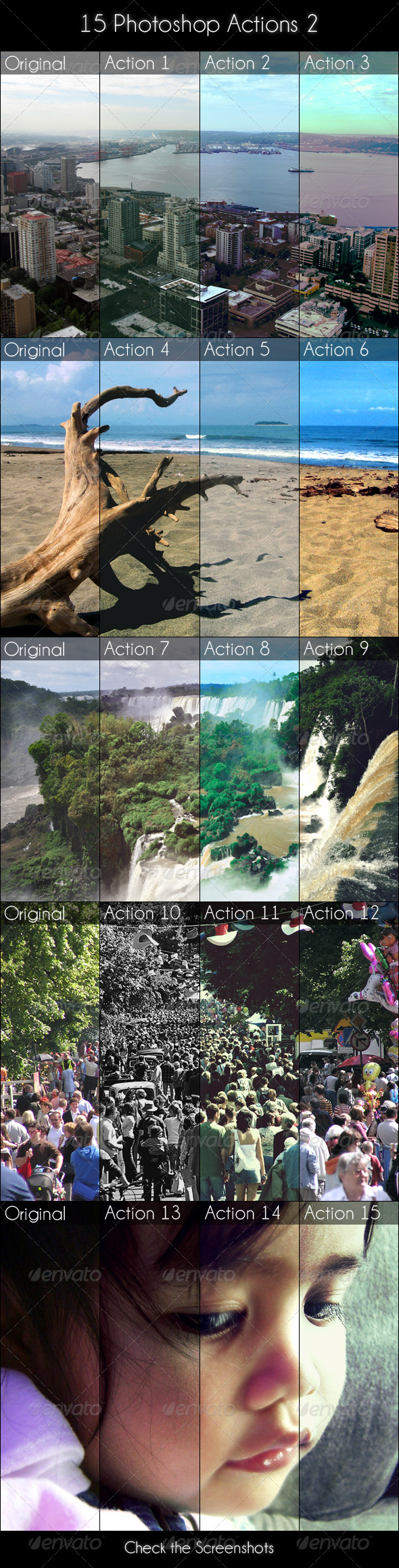 15 Photoshop Actions 2 - Photo Effects Actions