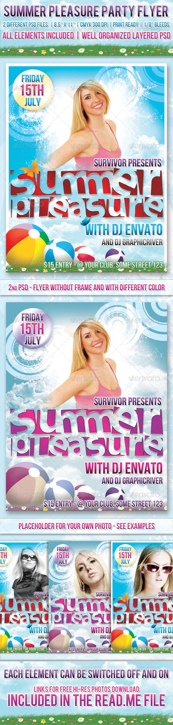 GraphicRiver Summer Party Flyer Template 240726