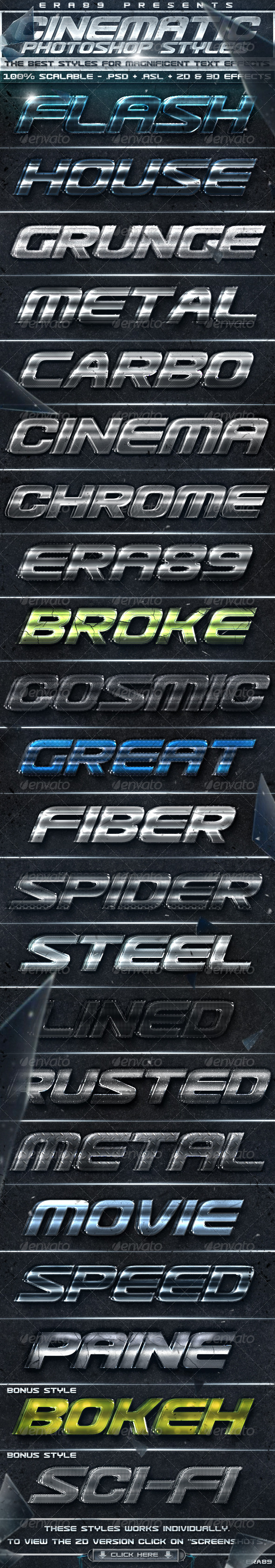GraphicRiver Cinematica Text Effects PS Styles 240736