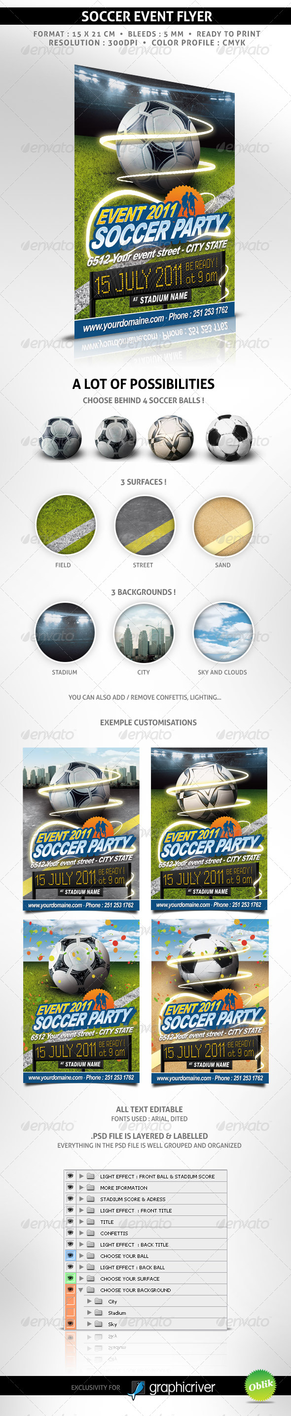 GraphicRiver Soccer event flyer 240016