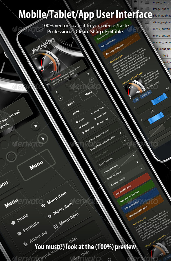 Mobile application/site user interface - User Interfaces Web Elements
