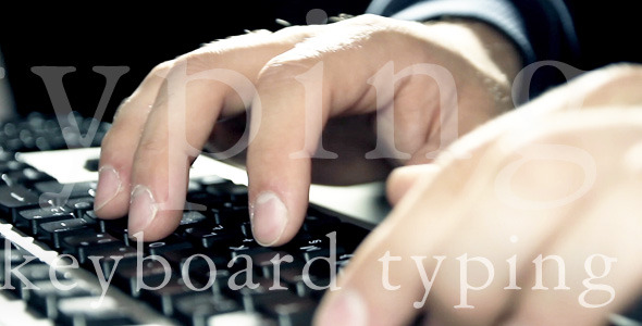 Typing In Perspective On Keyboard