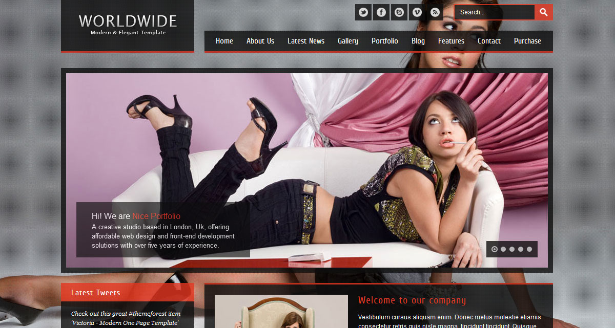 WorldWide - Premium HTML Template - Screenshot 2