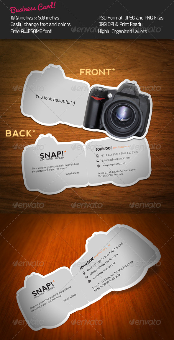 GraphicRiver SNAP Business Card 240890