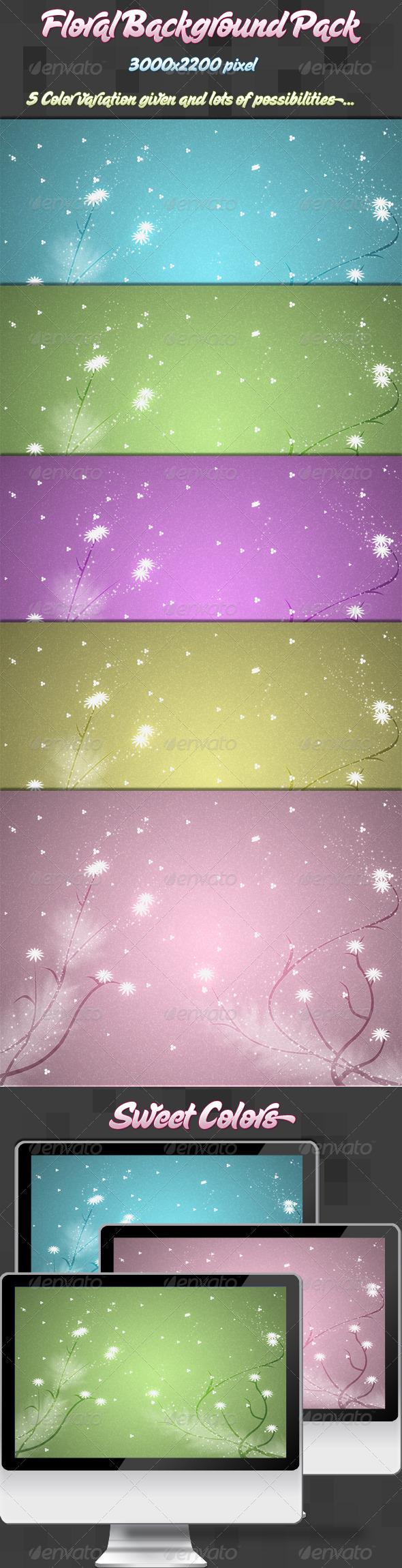 Floral Background Pack