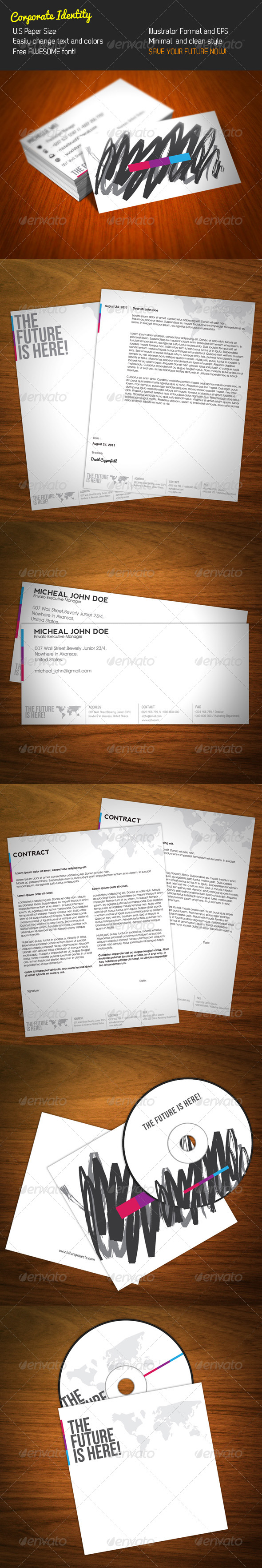 Minimalist Corporate Identity - Stationery Print Templates