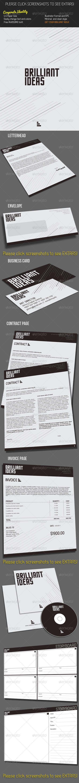 Brilliant Corporate Identity - Stationery Print Templates