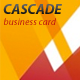 Cascade Business Card - GraphicRiver Item for Sale