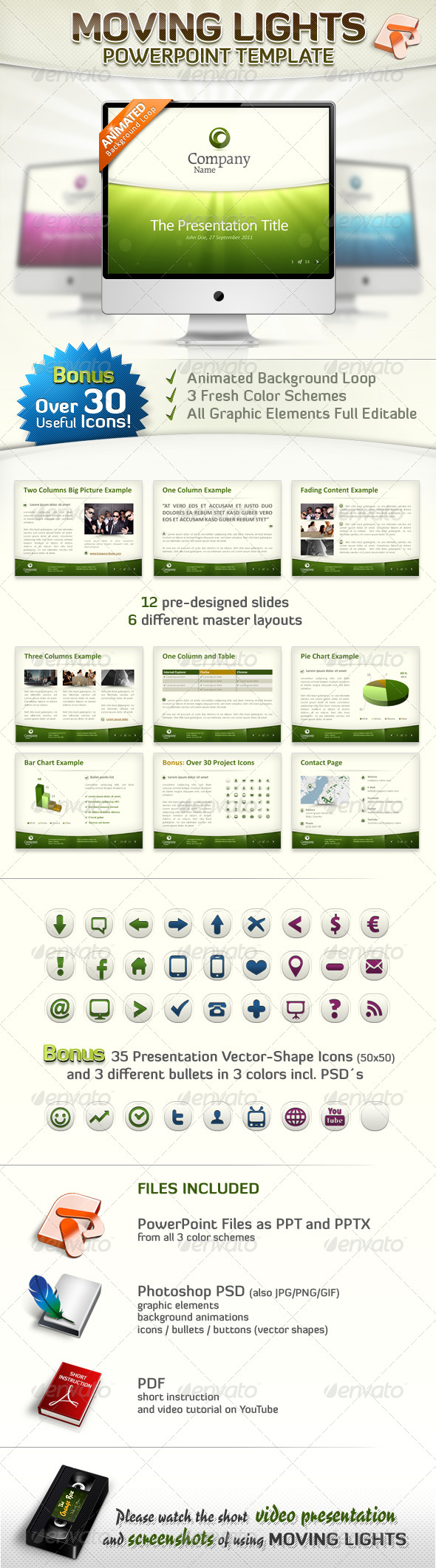 GraphicRiver Moving Lights PowerPoint Template 241010