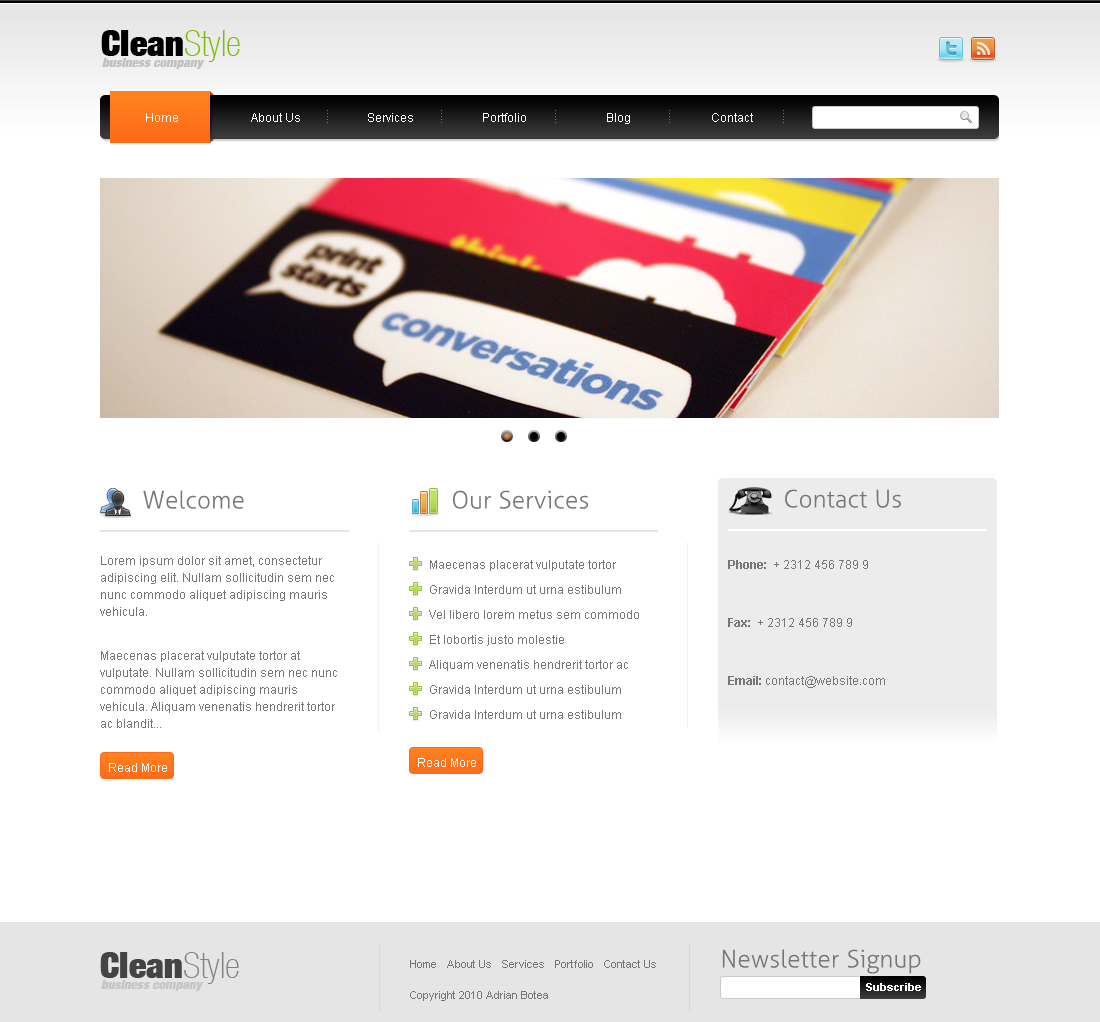 CleanStyle HTML Template