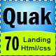 Quak - Landing page 70 variations - ThemeForest Item for Sale