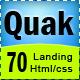 Quak - Landing page 70 variations