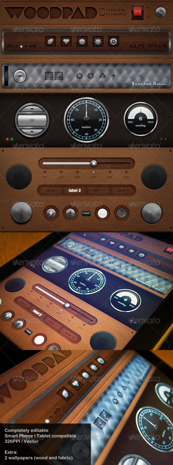 Woodpad - Touch User Interinterface  - User Interfaces Web Elements