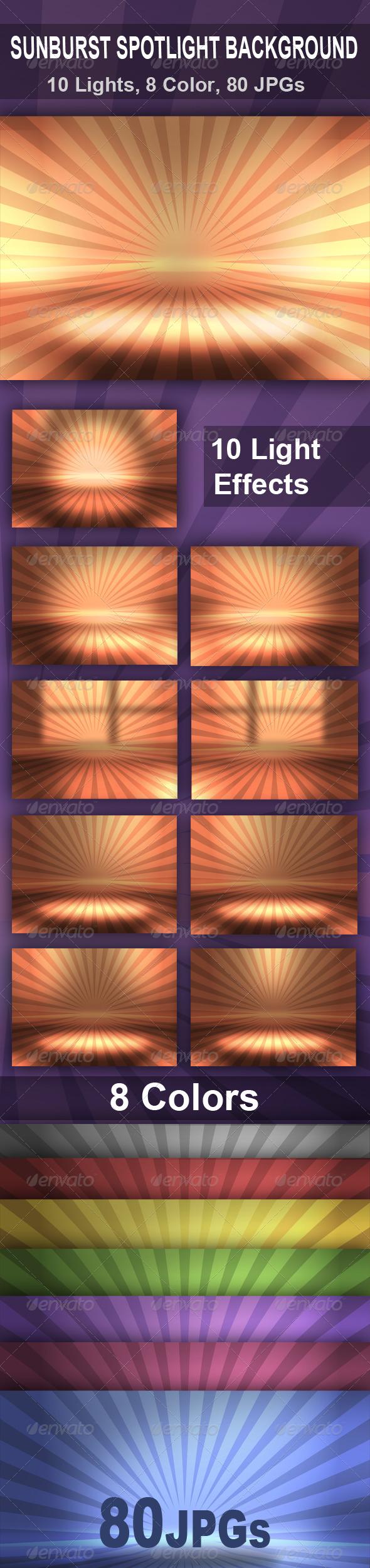 Sunburst Spotlight Background - Backgrounds Graphics