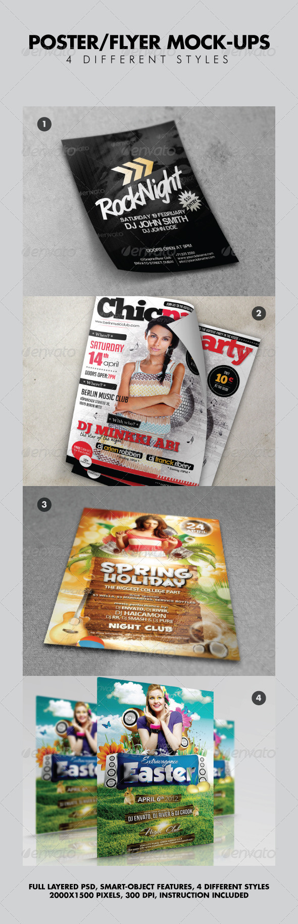 Various Poster Flyer Mock-ups V2