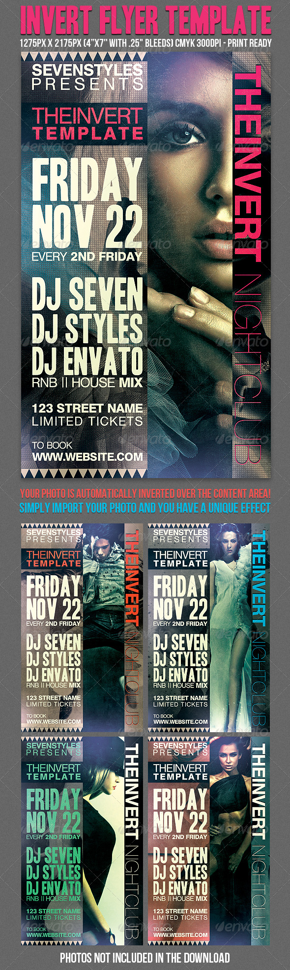 Invert Flyer Template - Clubs & Parties Events
