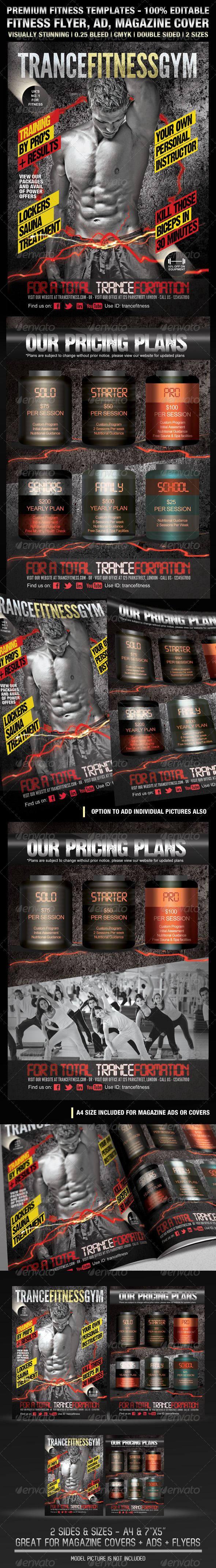 GraphicRiver TranceFitness Flyer AD or Magazine Cover Template 2127133