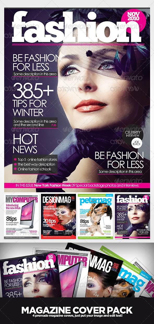 Magazine Cover Templates - Magazines Print Templates