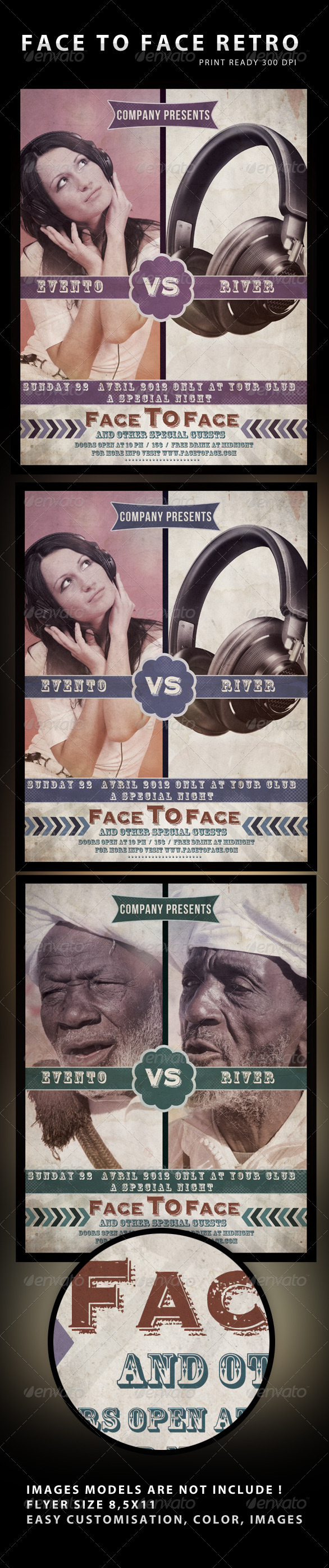 Face To Face Flyer - Flyers Print Templates