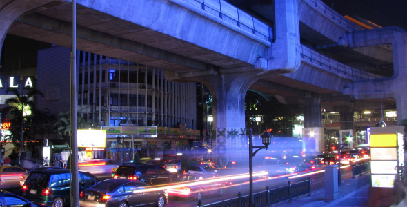 Bangkok traffic time lapse