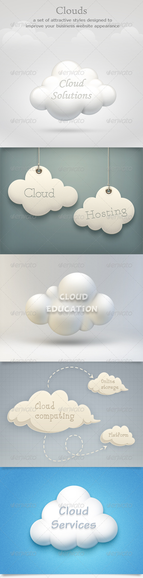 Clouds Set - Business Illustrations