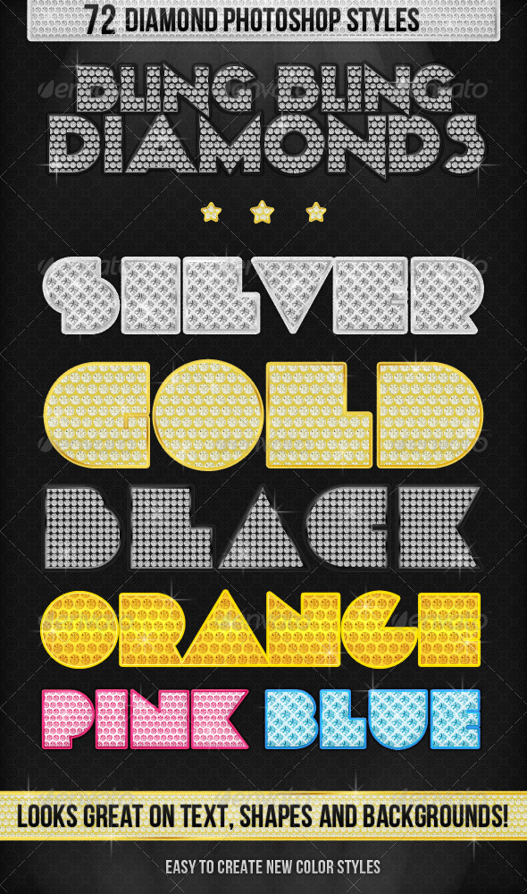 GraphicRiver Bling Bling Diamonds Styles 241492