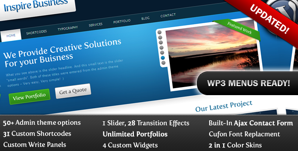 Inspire Business - Premium Corporate WP Theme