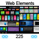 BUNDLE | 225 Web 2.0 Elements - GraphicRiver Item for Sale