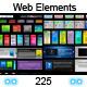 BUNDLE | 225 Web 2.0 Elements - GraphicRiver Item for Sale