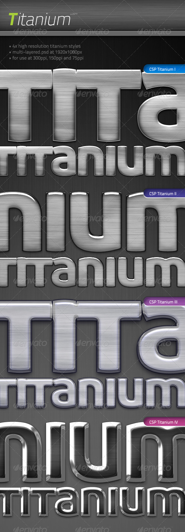 4x Titanium - Text Effects Styles